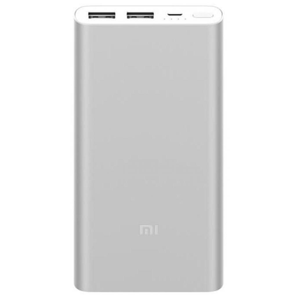 Батарея универсальная Xiaomi Mi Power Bank 2s 10000 mAh 2xUSB QC2.0 Silver
