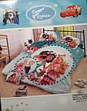 Комплект постельного белья детский  полуторный размер  для девочки Байка ( Фланель), фото 3