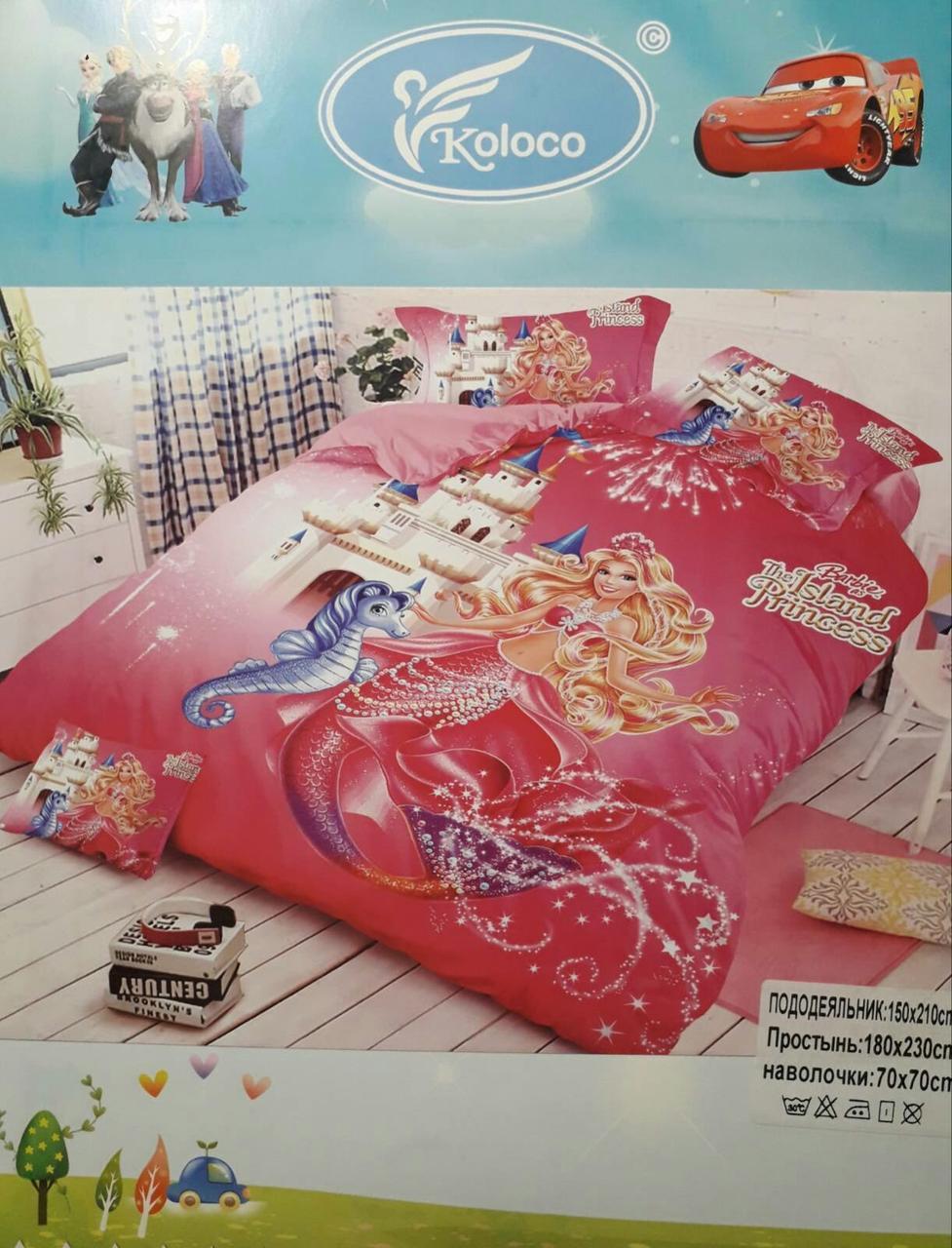 Комплект постельного белья детский  полуторный размер  для девочки Байка ( Фланель)