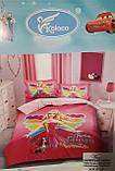 Комплект постельного белья детский  полуторный размер  для девочки Байка ( Фланель), фото 7