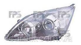 Фара левая механич./электро Н1+НВ3 хром отражатель (белая вставка EUR) для Honda CRV 2006-09