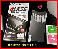 Захисне скло для Tecno Pop 2F (B1F) в упаковці, загартоване скло техно поп 2ф