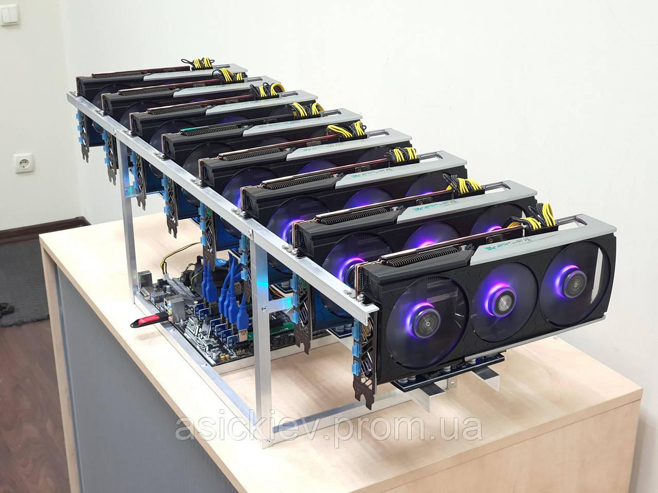 450 Mh/s Майнінг ферма на відеокарти Sapphire Rx 5700 Xt Nitro+