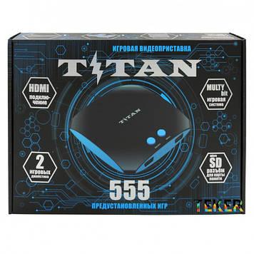Игровая приставка, dendy, sega, с, встроенными 555 играми, НDMI подключение, титан 3