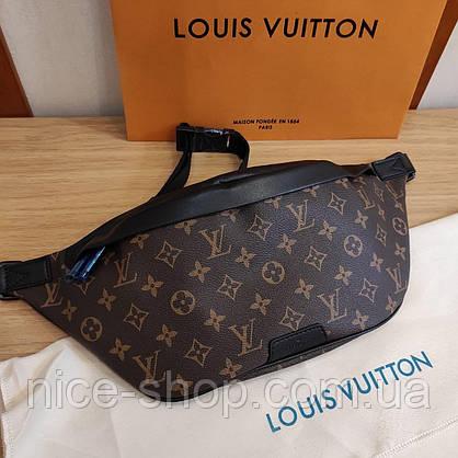 Напоясная сумка-бананка Louis Vuitton кожа maxi, фото 3