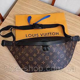 Напоясная сумка-бананка Louis Vuitton кожа maxi