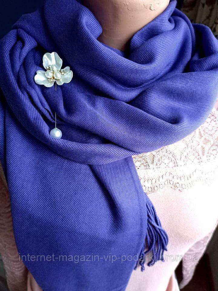 Палантин кашемир в ассортименте фиолетовый