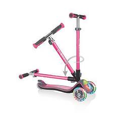 Самокат GLOBBER серии ELITE розовый/серый, колеса и панель с подсветкой, до 50кг, 3+, 3 колеса, фото 2