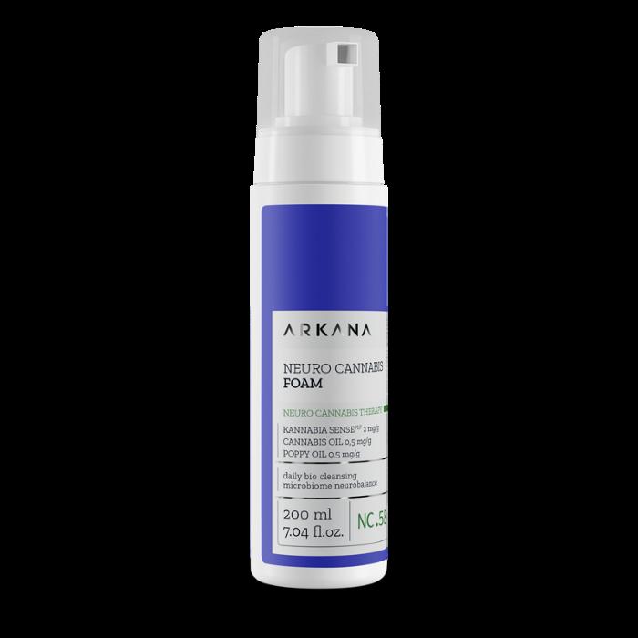 Пенка для умывания для сухой и чувствительной кожи Каннабис Аркана Cannabis Clean Foam Arkana 200 мл