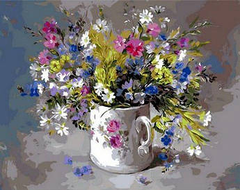 Картина малювання за номерами Mariposa Подарунок для коханої MR-Q979 40х50 см Квіти, букети, натюрморти набір