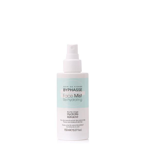 Byphasse Face Mist Re-hydrating Sensitive & Dry Skin Дымка для сухой и чувствительной кожи спрей 150 мл