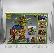Конструктор QS08  майнкрафт Рождественский домик на дереве 537 деталей + свет, фото 2