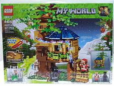 Конструктор QS08  майнкрафт Рождественский домик на дереве 537 деталей + свет, фото 3