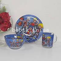 Набор детской посуды из стекла Бейблейд