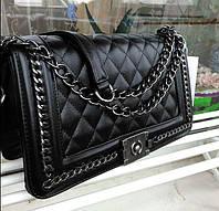 Модные женские сумки реплики . Женская сумка брендовая через плечо черная Сумки жіночі через плече 2020, фото 1