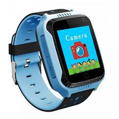 Детские умные часы GPS A2, смарт часы, умные часы, детские смарт вотч (Голубые)