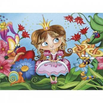 Картина розфарбування на полотні Принцеса у казковому лісі 25х30см Ідейка 7121/2 набір для розпису, фарби,