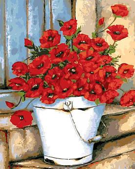 Картина за номерами ArtStory AS0114 Маки 40х50 см арт сторі картини Квіти, фрукти, натюрморти, їжа