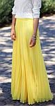 Женская желтая шифоновая юбка макси, фото 2