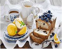 Картина малювання за номерами Brushme Кекс до чаю 40х50см малювання розпис по номерах, пензлі, фарби, полотно