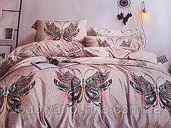 Полуторний комплект з сатину Казкові метелики
