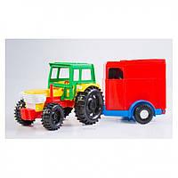 Трактор с прицепом в коробке 39009 -1/2 (С конем)