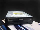 Оптичний привід, дисковод, DVD-RW Samsung SH-S222A , Black, P-ATA 22X DVD Writer, двд дисковод для комп'ютера, фото 3