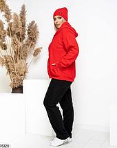 Теплый спортивный костюм с шапкой в комплекте Размеры:  52-54, 56-58, 60-62, фото 3