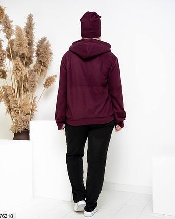 Теплый спортивный костюм с шапкой в комплекте Размеры:  52-54, 56-58, 60-62, фото 2