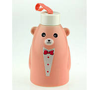Термобутылка Gentle Bear розовая ( бутылка медвежонок )