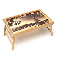 Столик для завтрака в постель BST 710071 бежевый 52х32 см. automne