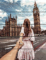 """Картина по номерам на дереве. Rainbow Art """"Следуй за мной. Лондон"""" GXT22063-RA"""