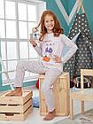 "ОПТОМ Пижама для девочки 6-7 лет ""Charming Duck"" (122 см.)  Donella 8697840448776, фото 3"