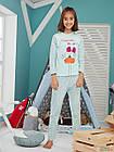 "ОПТОМ Пижама для девочки 6-7 лет ""Charming Duck"" (122 см.)  Donella 8697840448776, фото 4"