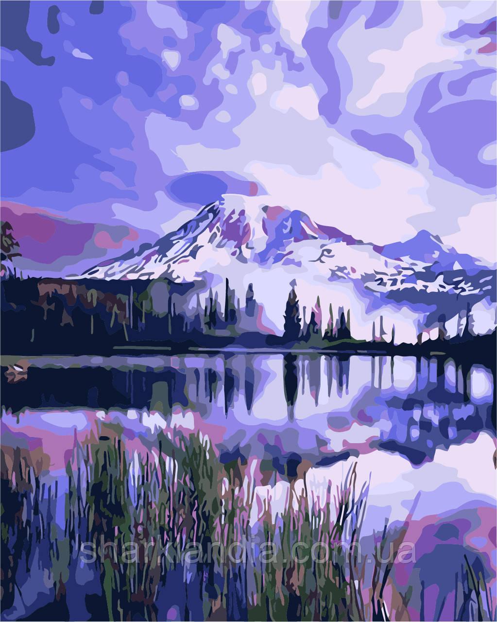 """Картина за номерами """"Озеро в горах"""" 40*50см"""