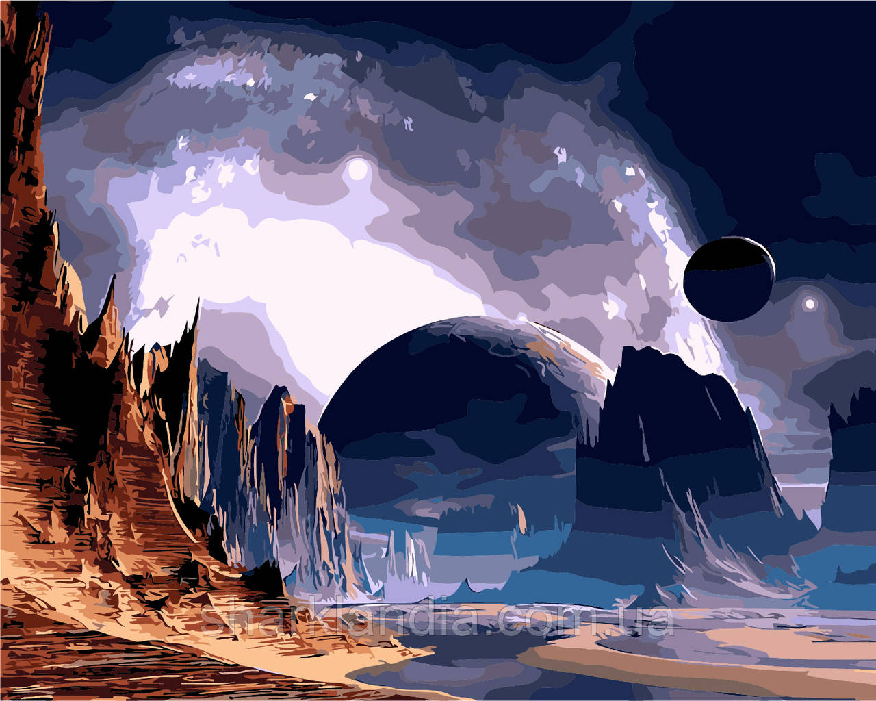 "Картина за номерами ""Далека планета"" 40*50см"