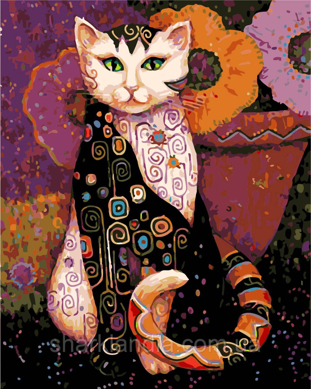 """Картина за номерами """"Дивний кіт"""" 40*50см"""