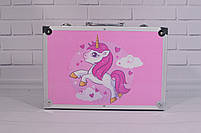 Набор для детского творчества в чемодане 145 предметов, большой набор рисования, Набор художника, фото 2