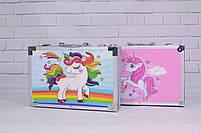 Набор для детского творчества в чемодане 145 предметов, большой набор рисования, Набор художника, фото 10