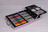 Набор для детского творчества в чемодане 145 предметов, большой набор рисования, Набор художника, фото 5