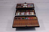 Набор для детского творчества в чемодане 145 предметов, большой набор рисования, Набор художника, фото 6