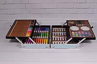 Набор для детского творчества в чемодане 145 предметов, большой набор рисования, Набор художника, фото 9