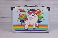 Набор для детского творчества в чемодане 145 предметов, большой набор рисования, Набор художника, фото 8