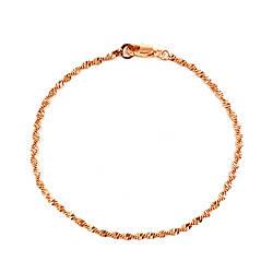 """Браслет """"Снейк крученый"""" SONATA из медицинского золота, позолота РО, 52084 (20 см)"""