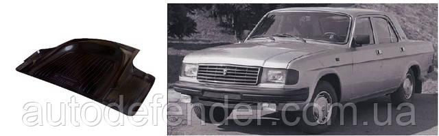 Килимок в багажник для ГАЗ 31029 Волга, резино/пластиковий (Lada Locker)