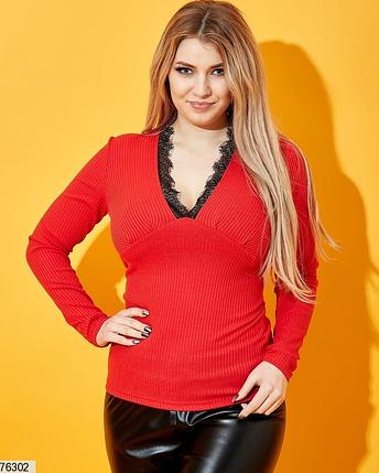 Кофта женская красная большого размера Украина Размеры: 42-46, 48-52, 54-58, фото 2