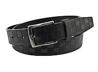 Детский кожаный ремень Real Leather 3 см для брюк черный 85-105 см (RL12730) (LM11RL12730)