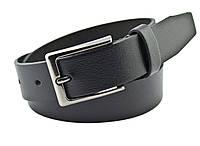 Детский кожаный ремень Real Leather 3 см для брюк черный 85-105 см (RL12930) (LM11RL12930)