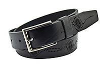 Детский кожаный ремень Real Leather 3 см для брюк черный 85-105 см (RL12530) (LM11RL12530)