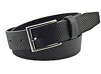 Детский кожаный ремень Real Leather 3 см для брюк черный 85-105 см (RL12830) (LM11RL12830)